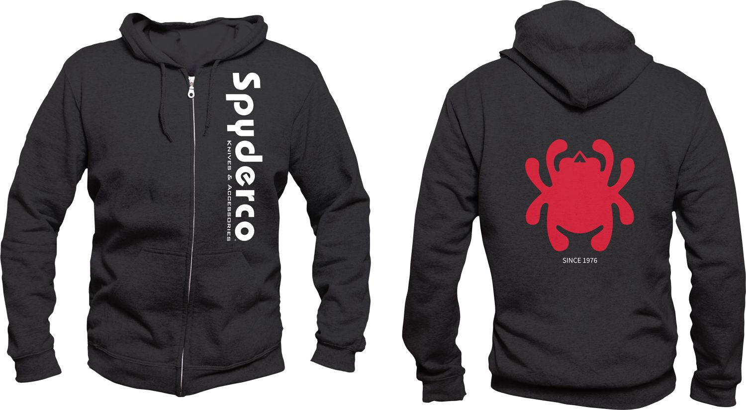 Spyderco Unisex Hooded Sweatshirt, Black, Medium