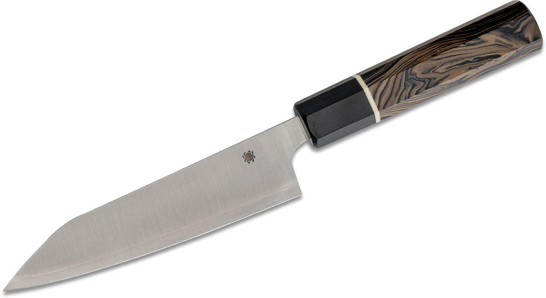 Spyderco Murray Carter Itamae Series Funayuki Knife 6.28 inch Super Blue/SUS410 Blade, Burl and Black G10 Handle