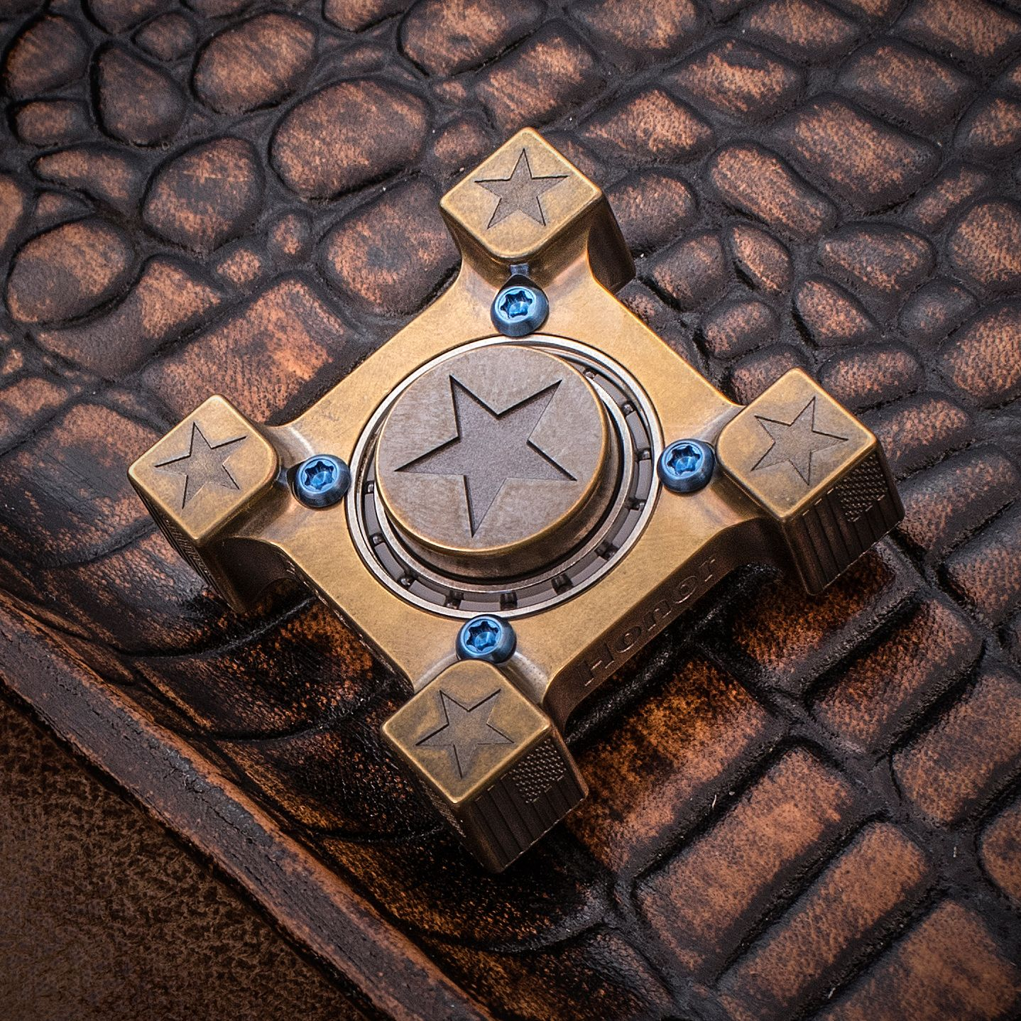 Steel Flame Custom Star Ring Spin Hand Spinner Knifecenter Discontinued