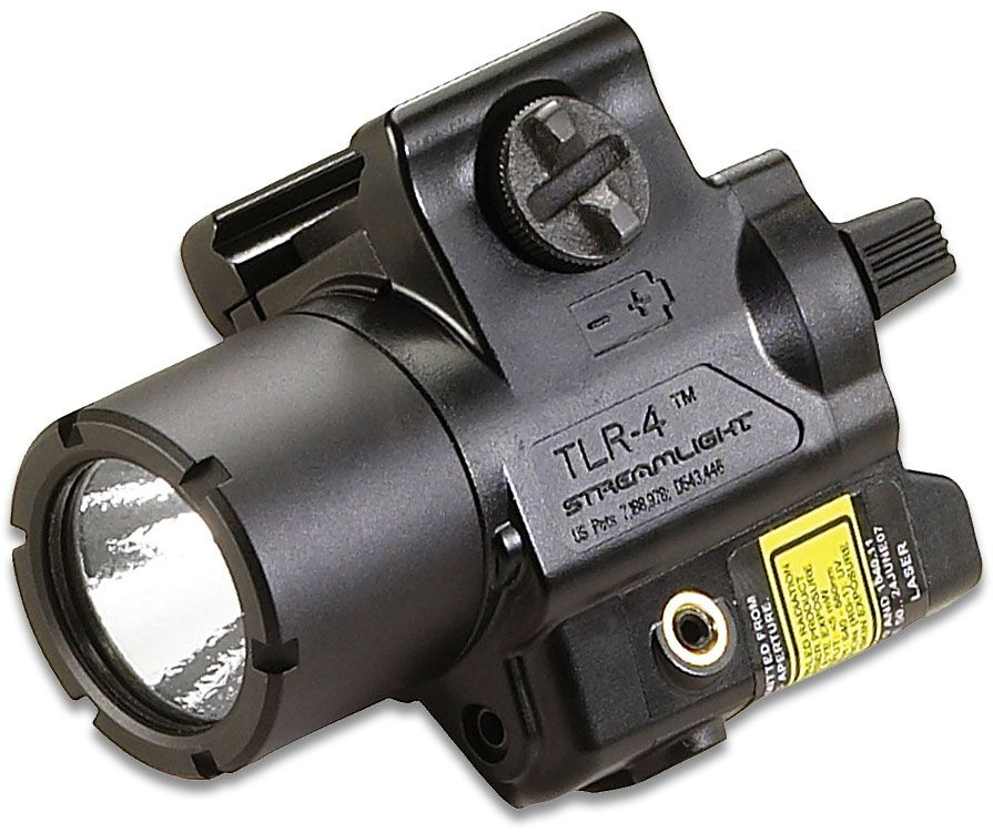 Streamlight TLR-4 170 Lumen Rail Mount Tactical Weaponlight with Red Laser