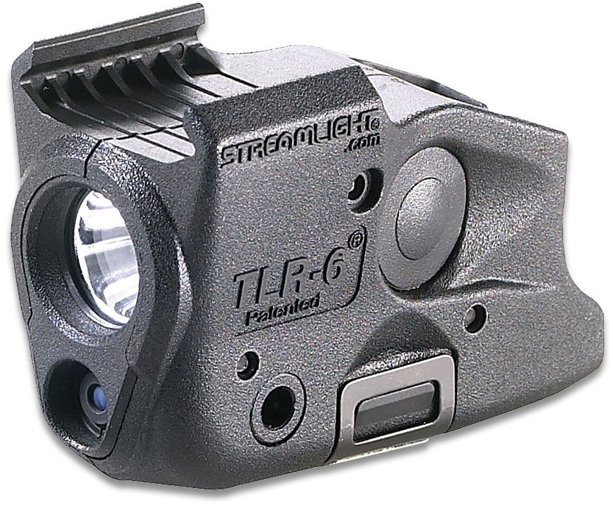 Streamlight TLR-6 Weapon Mount Tactical Light with Red Laser, Fits Most Glock Railed Handguns