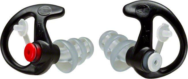 SureFire EP4 Sonic Defender Plus Earplugs, Medium, Black, 1 Pair