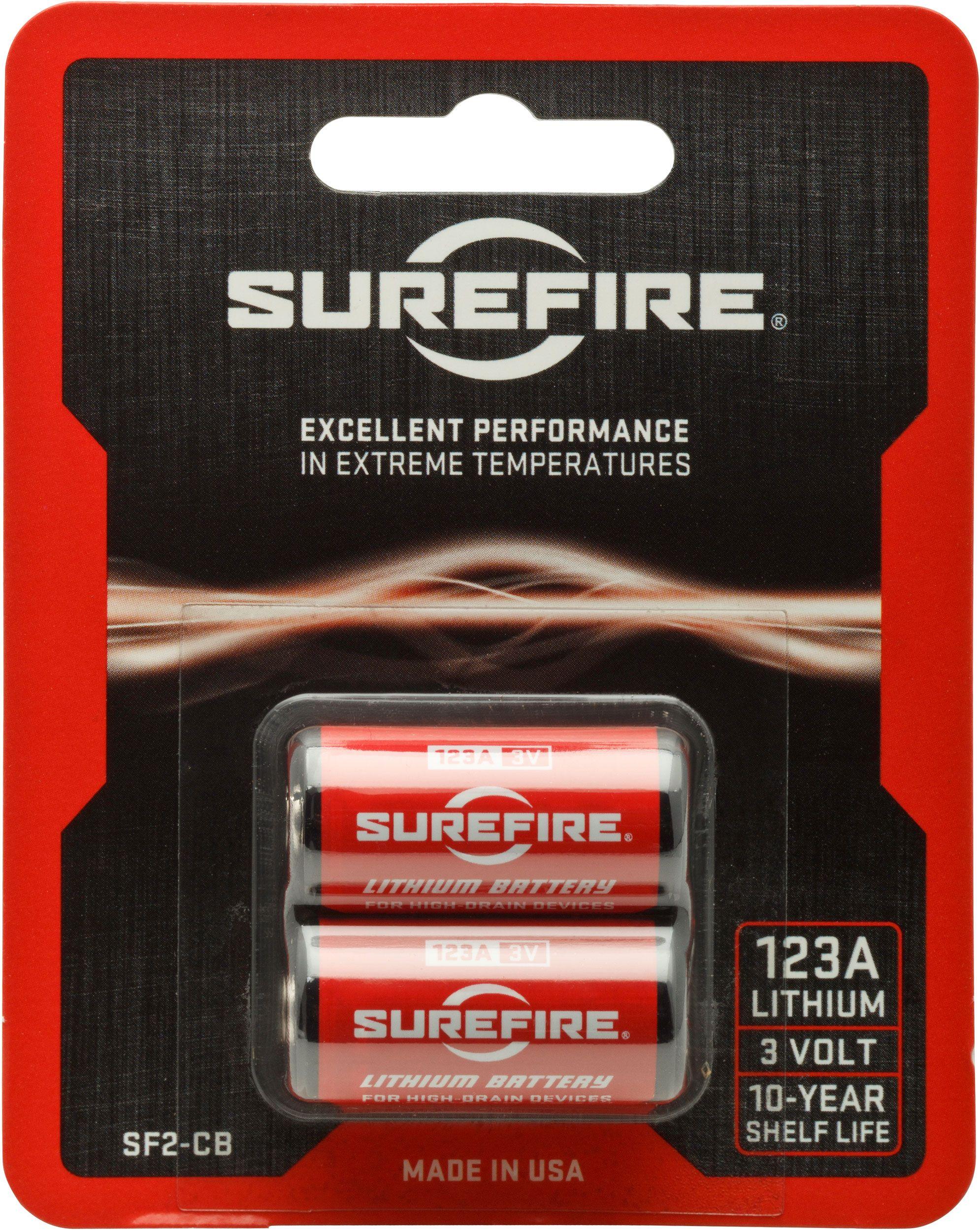 SureFire SF2-CB 2 Pack of SureFire 123A Lithium Batteries