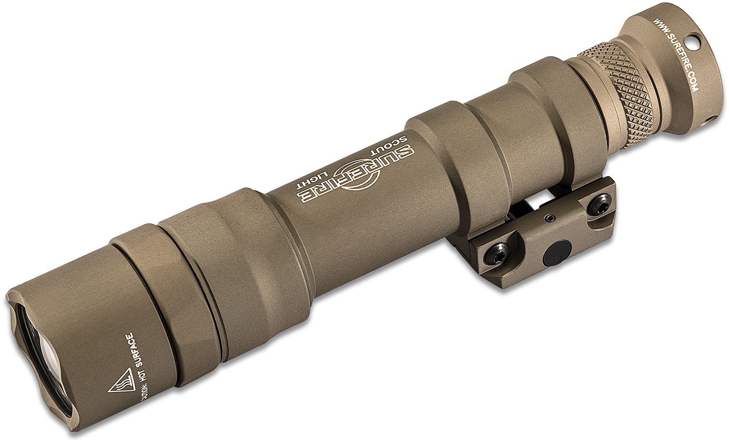SureFire M600DF Dual Fuel Scout Light LED WeaponLight with M75 Thumb Screw Mount, Tailcap Switch Only, Desert Tan, 1500 Lumens