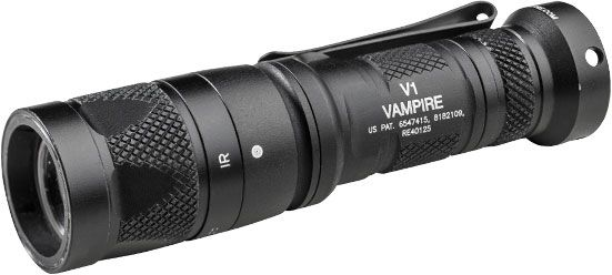 SureFire V1 Vampire Dual-Output LED Flashlight, White and IR Output, 120 Max Lumens
