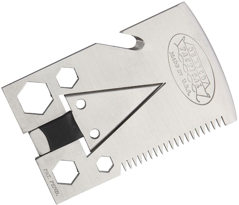 SURVCO Tactical Credit Card Axe 21 Function Multi-Tool