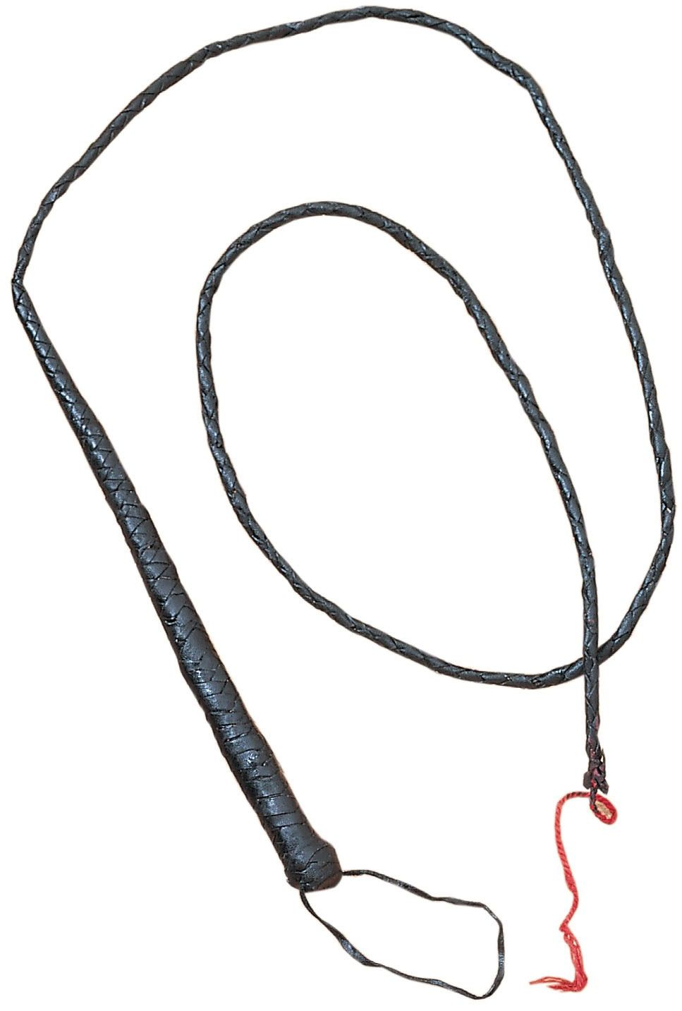 Black Leather Bullwhip 72 inch Overall - Display Quality Whip