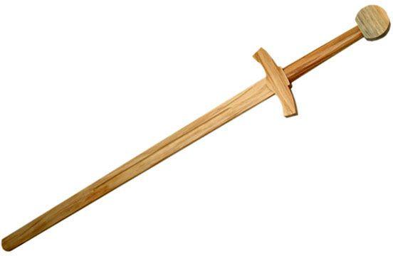 Wooden Excalibur Sword 39 inch Overall