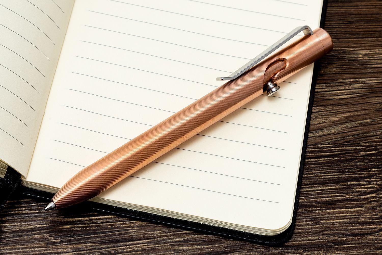 Tactile Turn Copper Bolt Action Pen Mini 4 4 Overall Bam Bolt Action Mini Knifecenter
