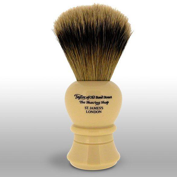 Taylor of Old Bond Street S2236 Super Badger 12.75 cm Large Shaving Brush, Faux Ivory Handle