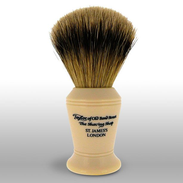 Taylor of Old Bond Street S376 Super Badger 11 cm Medium Shaving Brush, Faux Ivory Handle