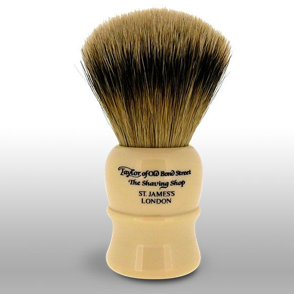Taylor of Old Bond Street S41 Super Badger 13 cm Extra Large Shaving Brush, Faux Ivory Handle