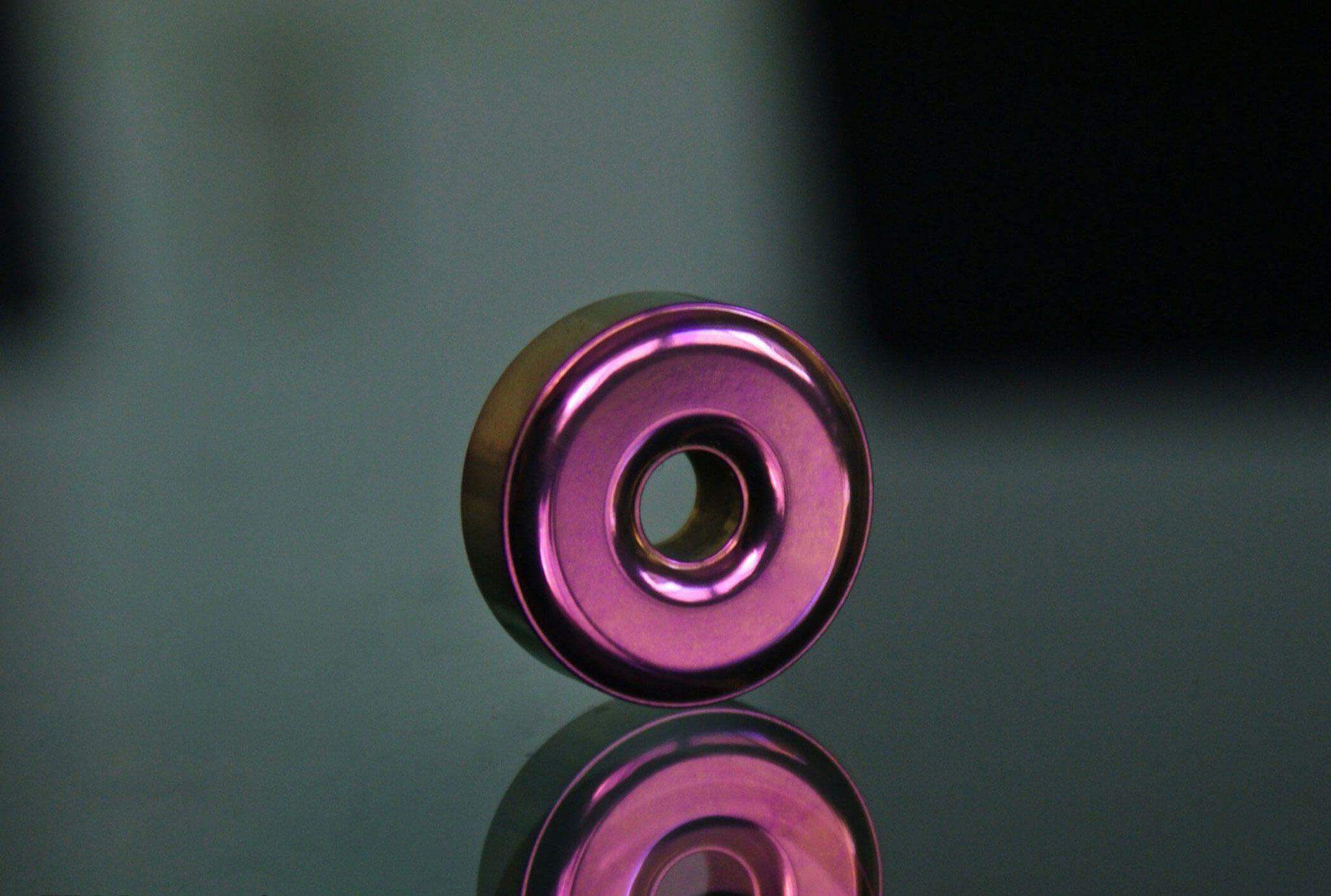 TEC Accessories R1 Titanium Lanyard Bead, Grapefruit