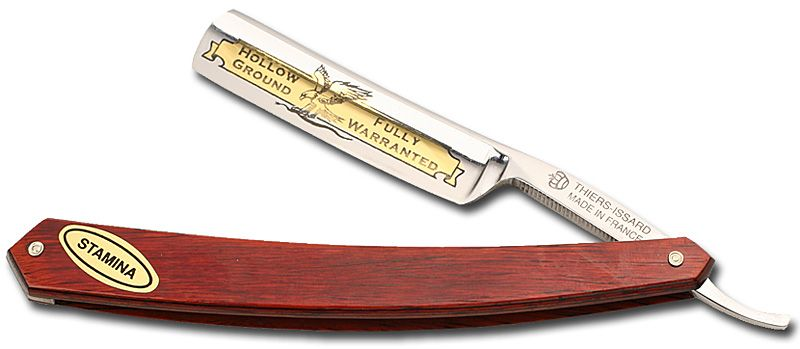 Thiers-Issard Eagle Brand Straight Razor 5/8 inch blade Red Staminawood Handle France