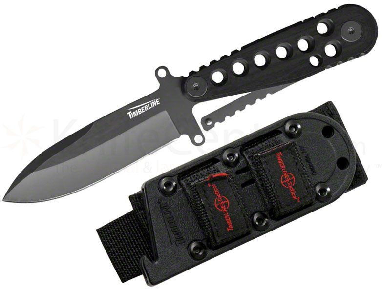 Timberline ECS-4 Neck Knife 3 inch Blade, Zytel Handles, MOLLE Sheath