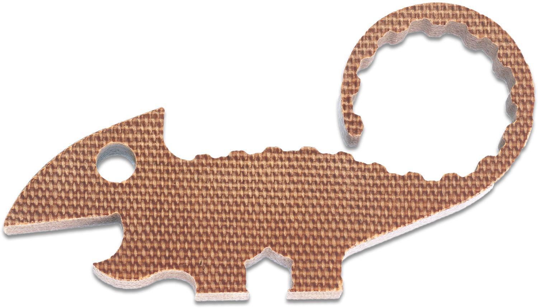 TRA Designs Natural Canvas Micarta Chugger the Chameleon Bottle Opener