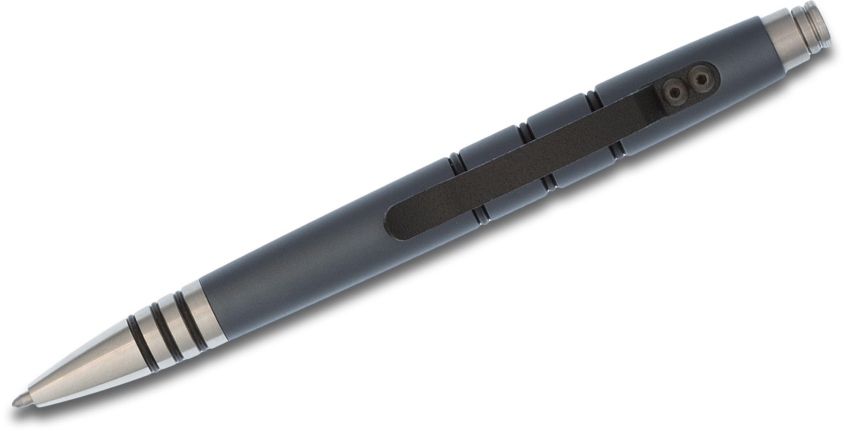 Tuff-Writer Mini Click Tactical Pen, Gray (TWP-MC-AL-GRY)