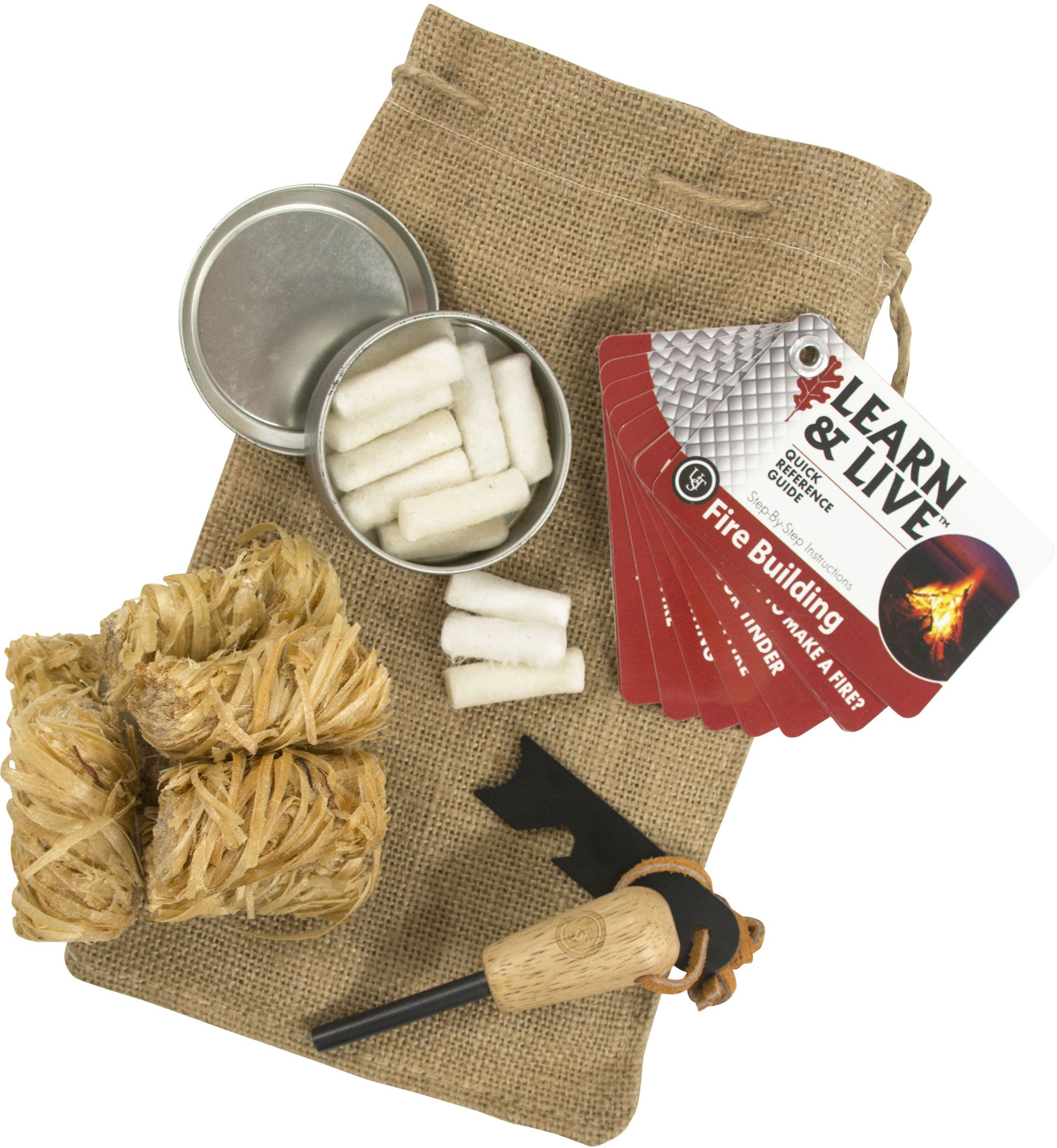 UST Ultimate Survival Heritage All-Weather Fire Starting Campfire Kit