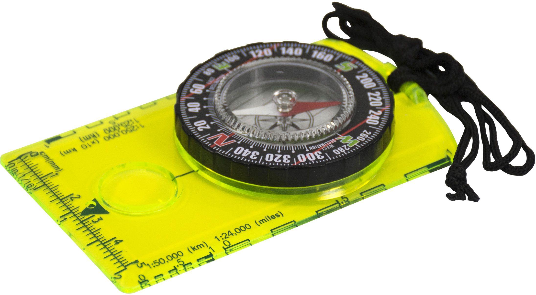 UST Ultimate Survival Hi Vis Deluxe Map Compass