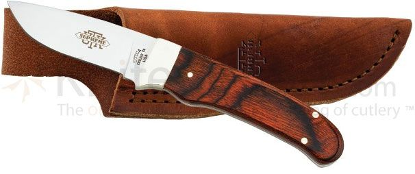 Utica Adirondack Caping Knife Fixed 2-3/4 inch 420 Stainless Blade, Cocobola Wood Handles