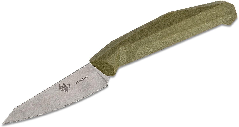 V Nives Diafire Emerald Paring Knife 3.5 inch Satin Blade, OD Green Handle