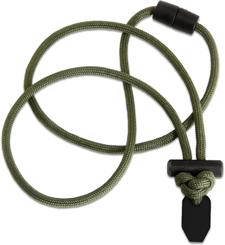 Wazoo Survival Gear Firecraft 550 FireCord Necklace, OD Green