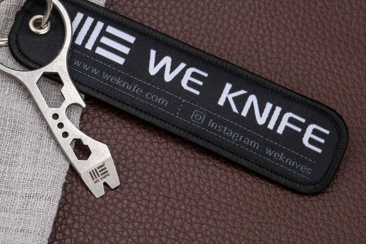 We Knife Company Keychain Multi-Tool with Flight Tag, 6 Functions (FREE Promotional Item with WE or CIVIVI Purchase)