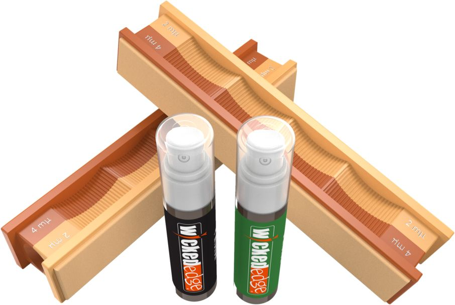 Wicked Edge WE0402PDE 4/2 Micron Diamond Emulsion and Leather Strops Pack