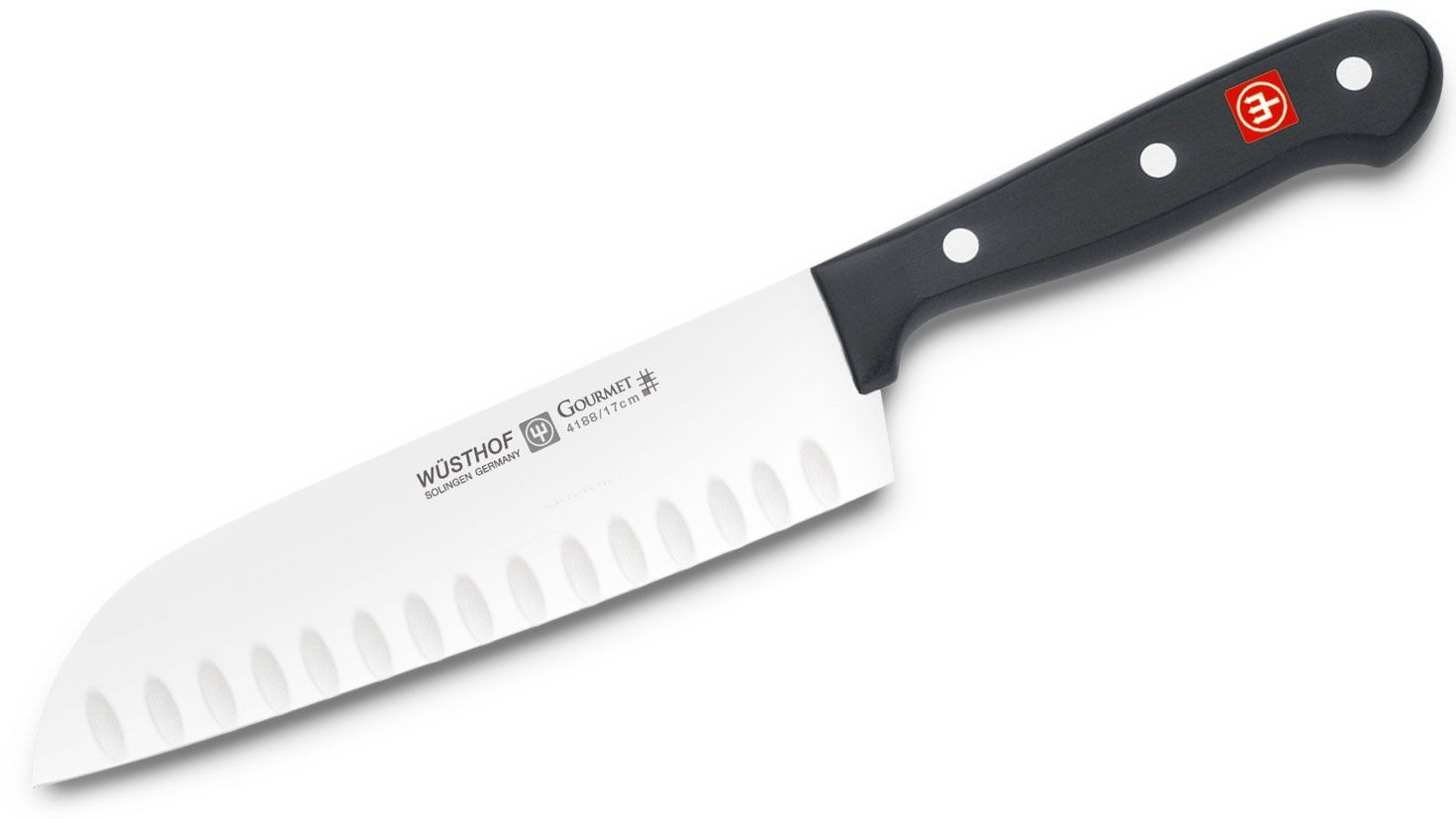 Wusthof Gourmet 7 inch Santoku Knife with Hollow Edge