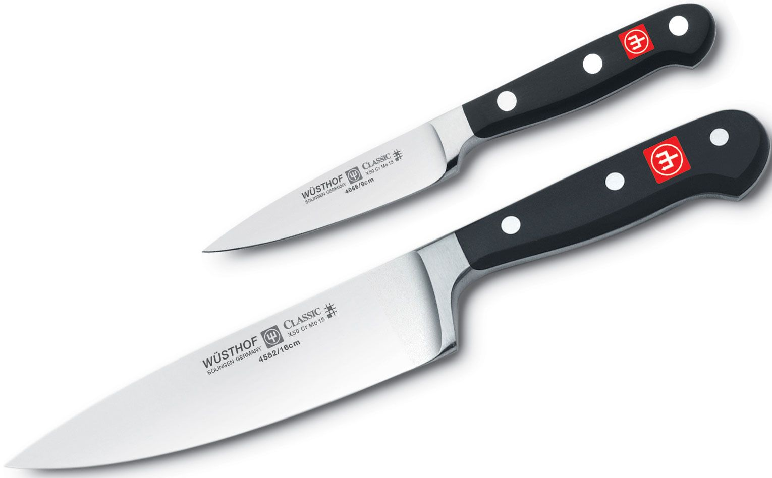 Wusthof Classic 2 Piece Prep Set, 6 inch Chef's Knife and 3.5 inch Paring Knife