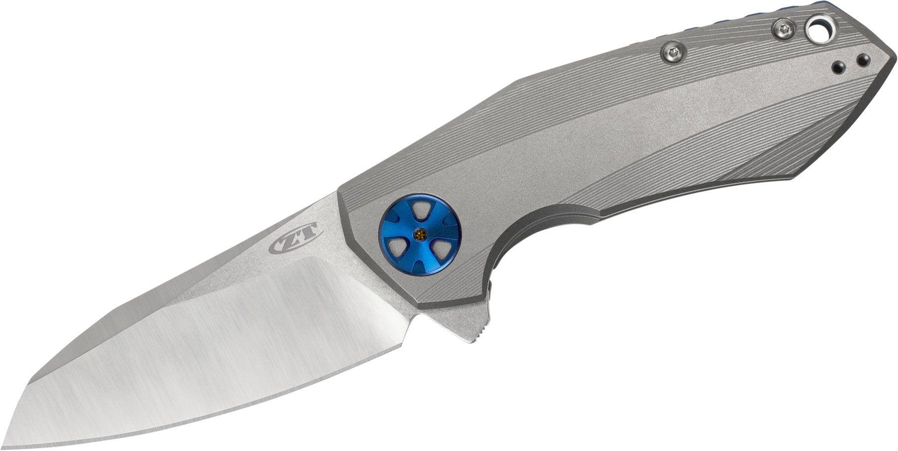Zero Tolerance 0456 Dmitry Sinkevich Flipper 3.25 inch CPM-20CV Two-Tone Blade, Titanium Handles