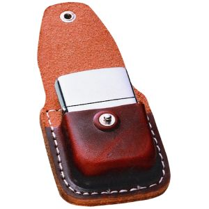 Zippo Leather Lighter Pouch w/ Clip, Brown
