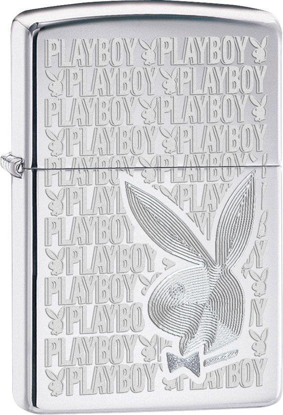 Zippo Playboy, High Polish Chrome Classic
