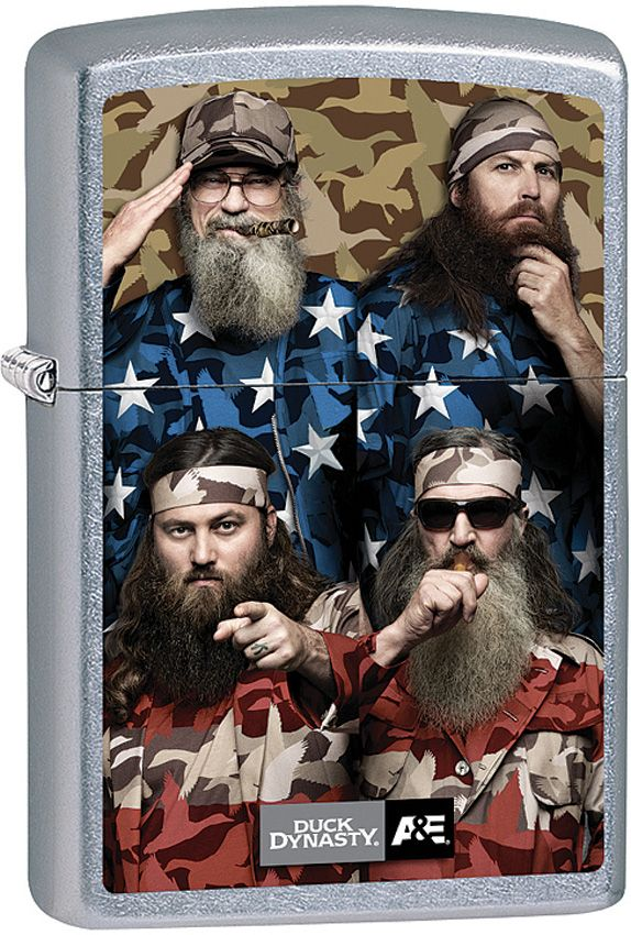 Zippo Duck Duck Dynasty Stars and Stripes