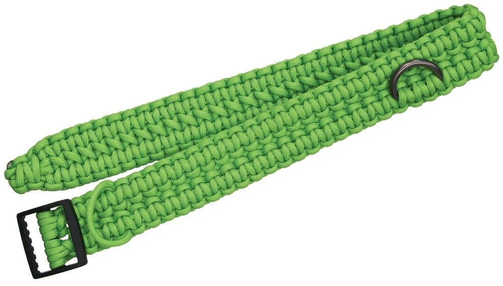 Zombie Nick Zombie Collar 25.5 inch Neon Green Paracord